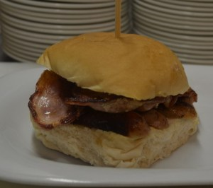 Bacon and Sausage bap
