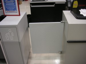 counter swing door