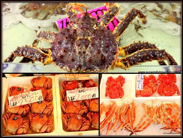Crabs in Hokkaido
