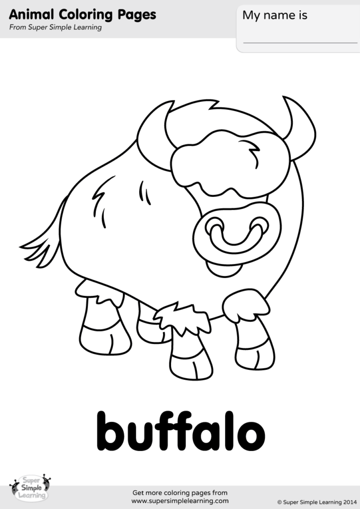 buffalo coloring page  super simple