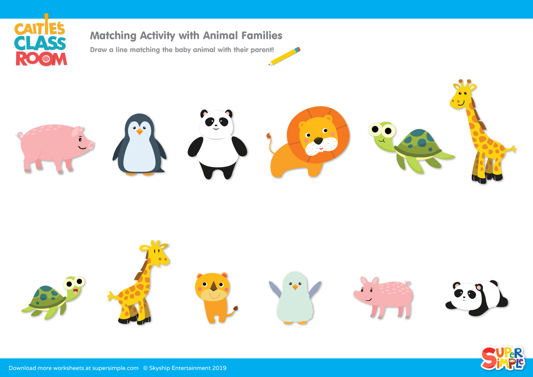 Matching Activity With Animal Families
