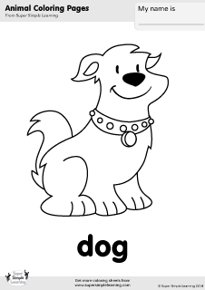 Dog Coloring Page Super Simple