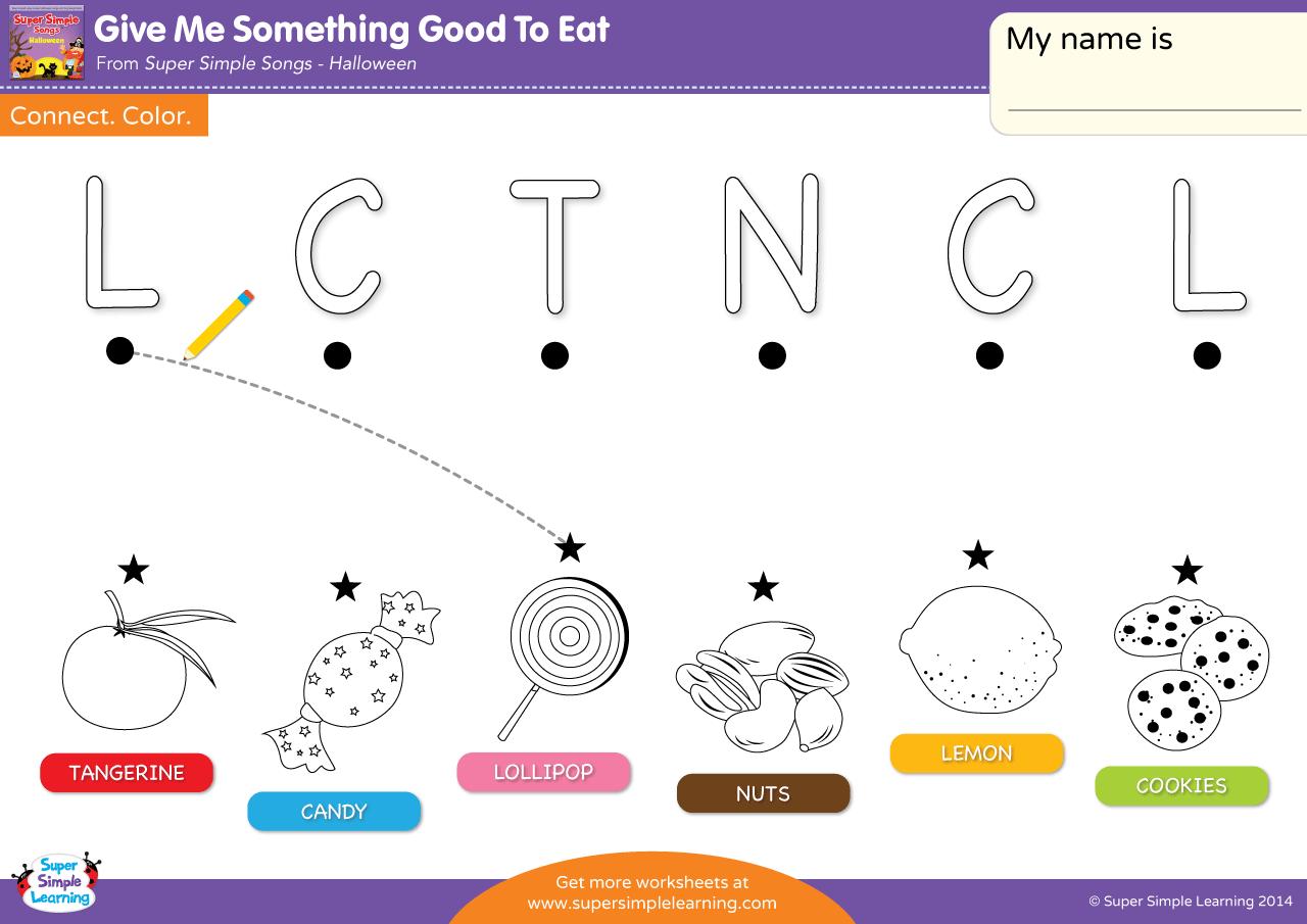 Give Me Something Good To Eat Worksheet