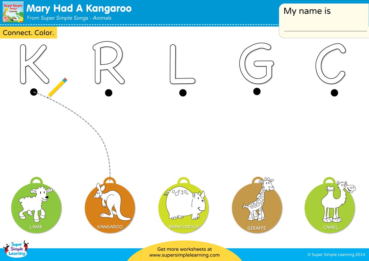 Mary Had A Kangaroo Worksheet