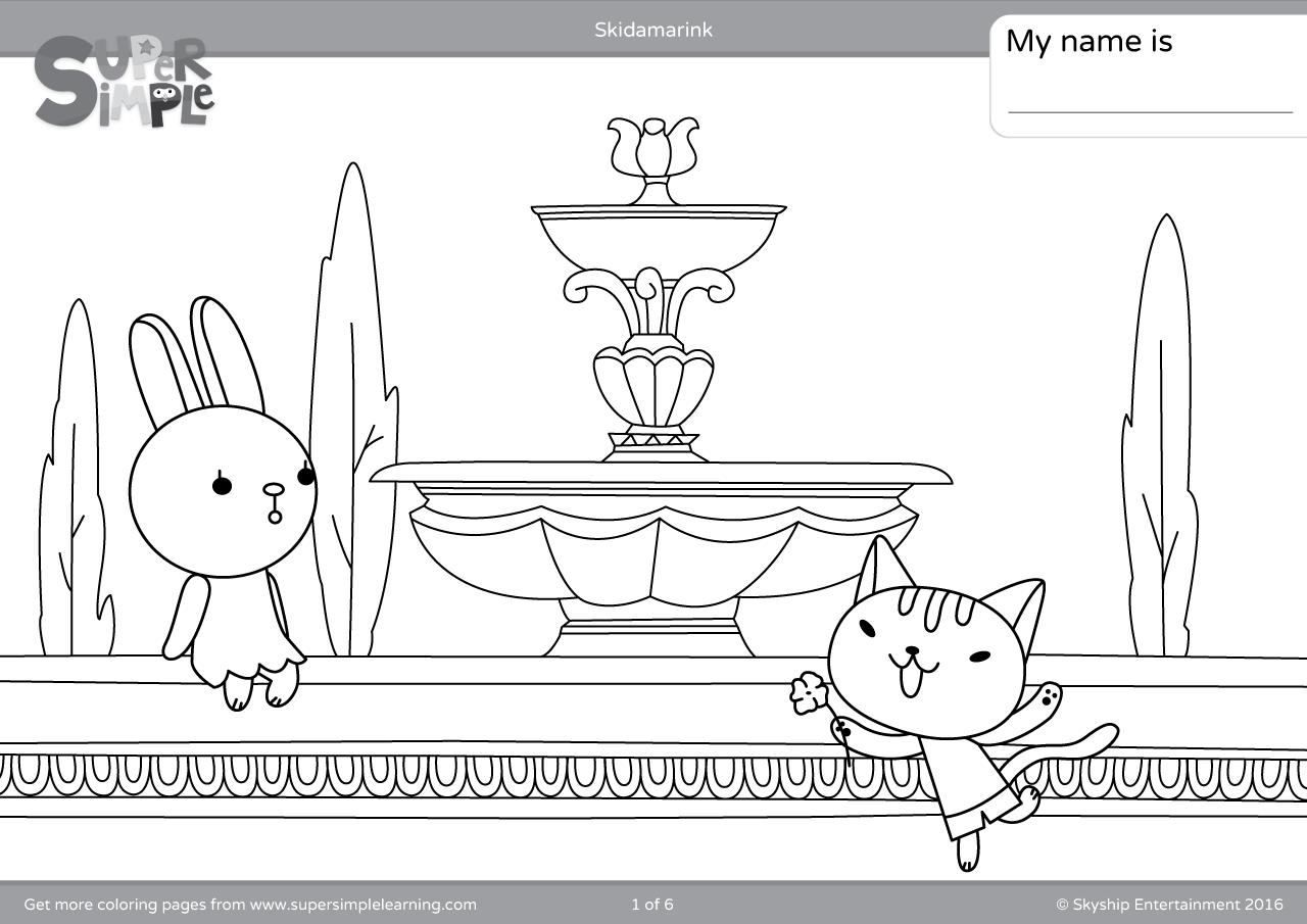 Skidamarink Coloring Pages
