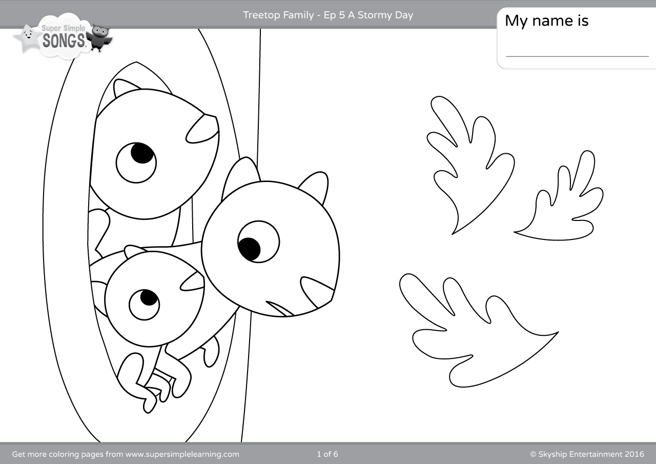 Treetop Family Coloring Pages