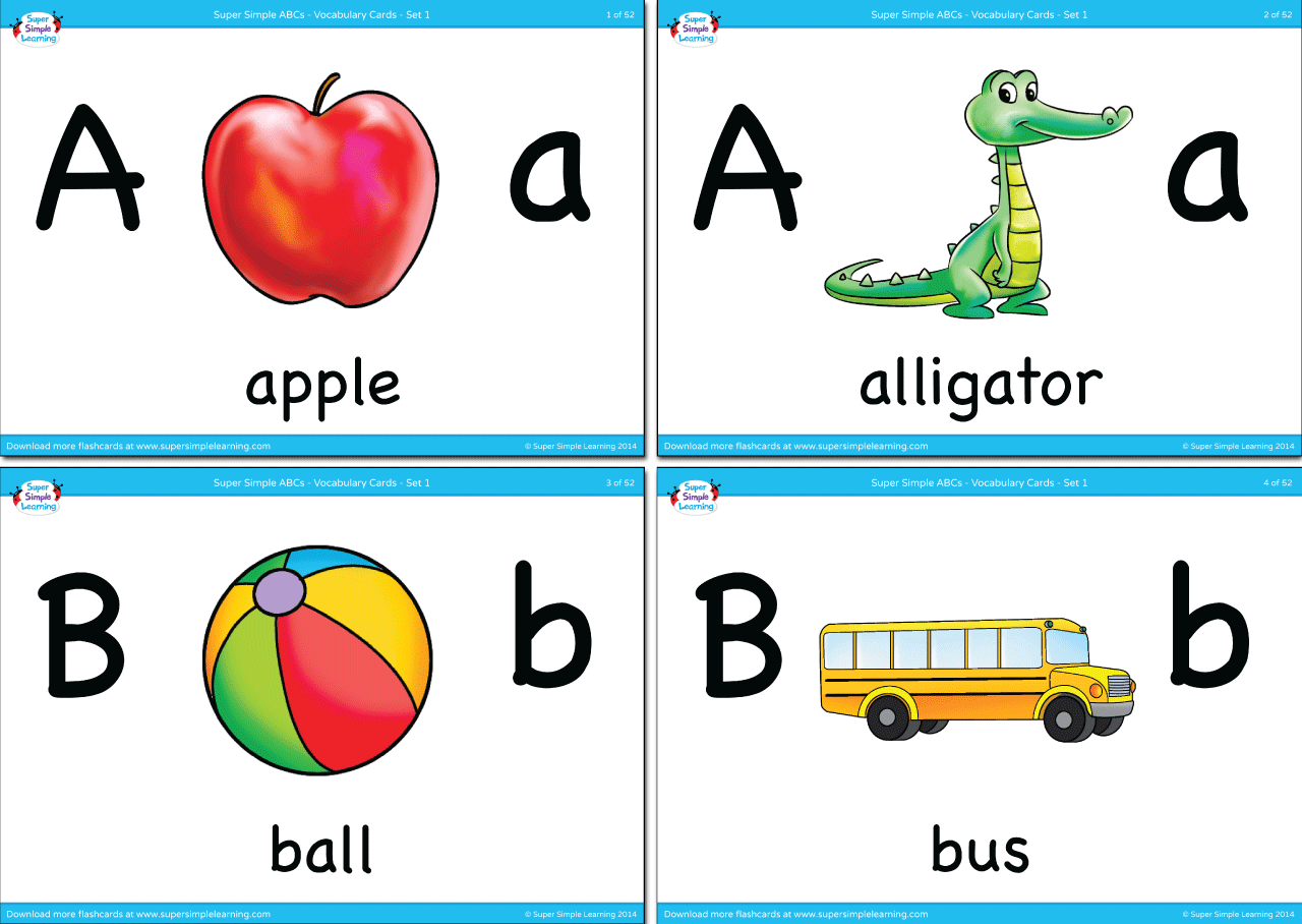 Alphabet Vocabulary Flashcards Set 1