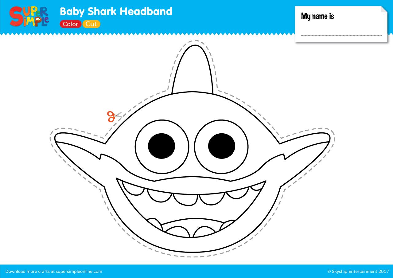 Baby Shark Headband