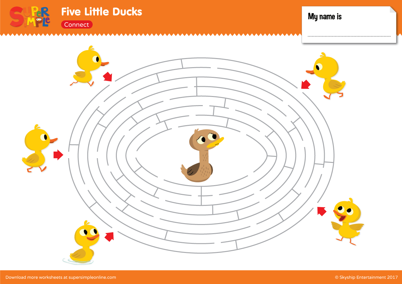 Five Little Ducks Maze