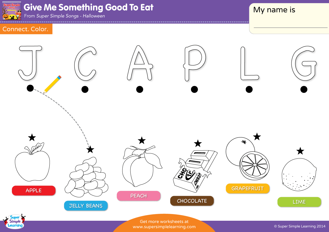 Give Me Something Good To Eat Worksheet Uppercase Letter