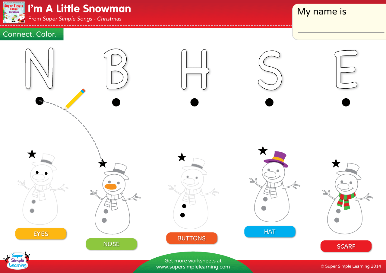 I M A Little Snowman Worksheet Uppercase Letter Matching