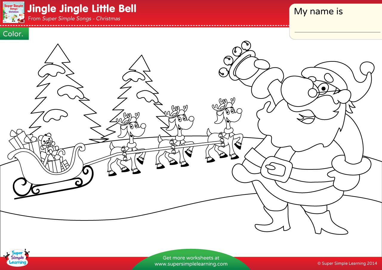 Jingle Jingle Little Bell Worksheet Color