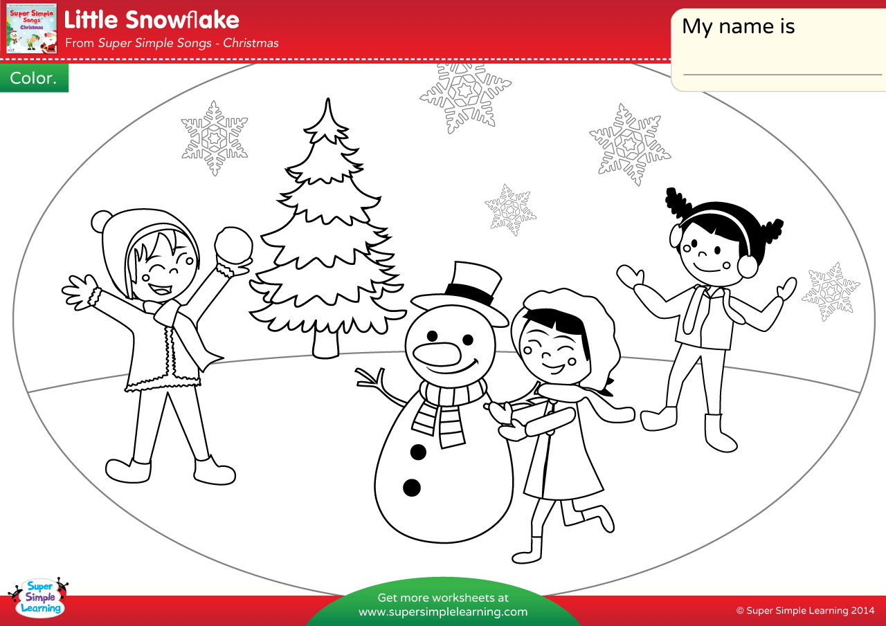 Little Snowflake Worksheet Color