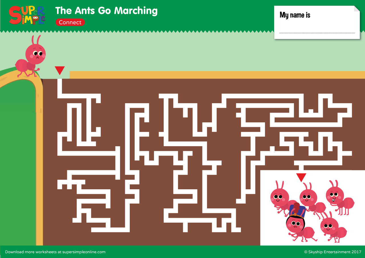 The Ants Go Marching Maze