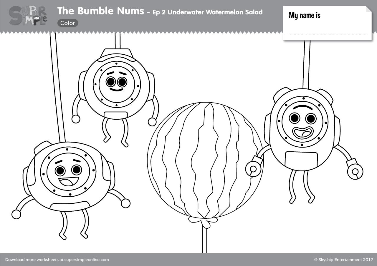 The Bumble Nums Color Episode 2 Underwater Watermelon