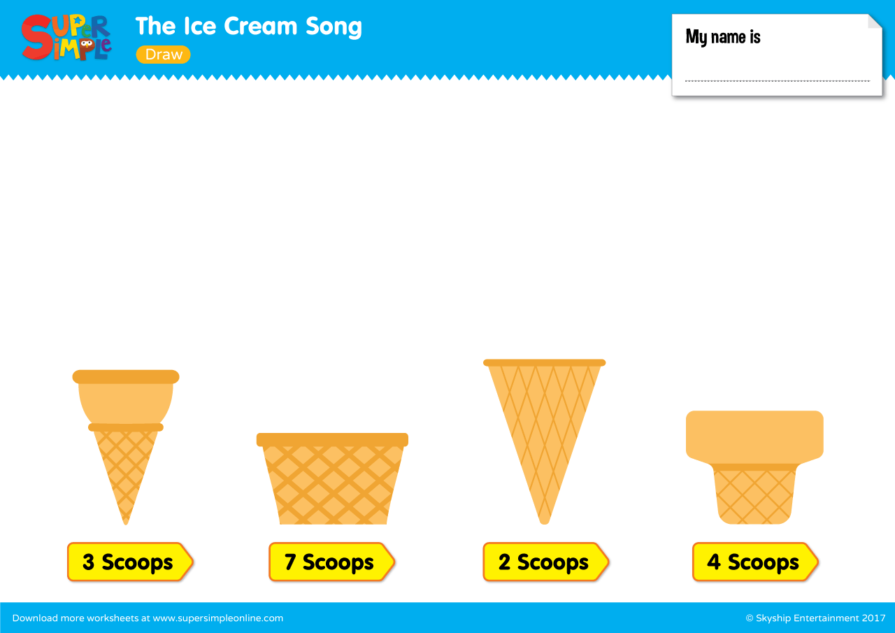 The Ice Cream Song Draw