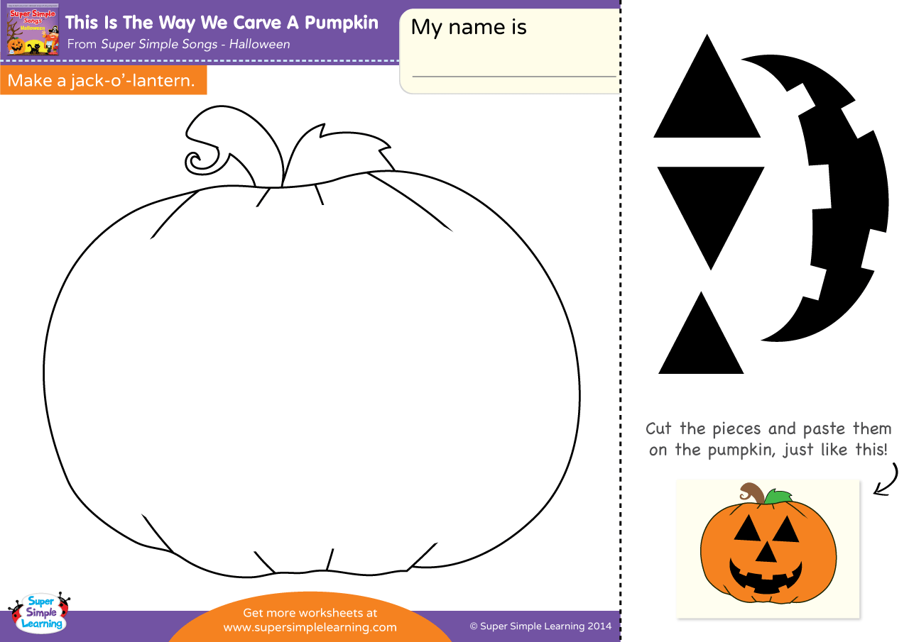 Pumpkin Preschool Watercolor Worksheet