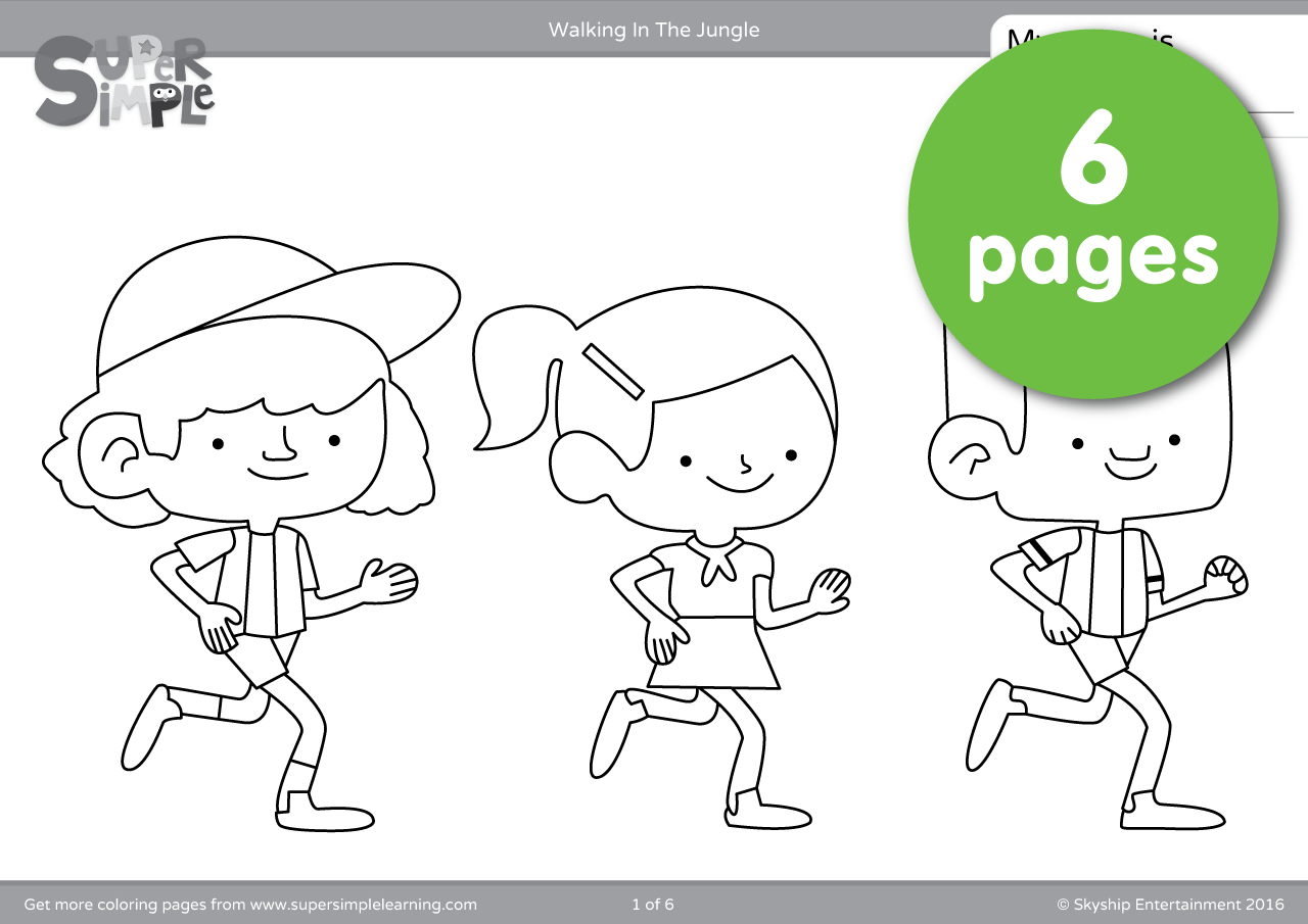 Walking In The Jungle Coloring Pages