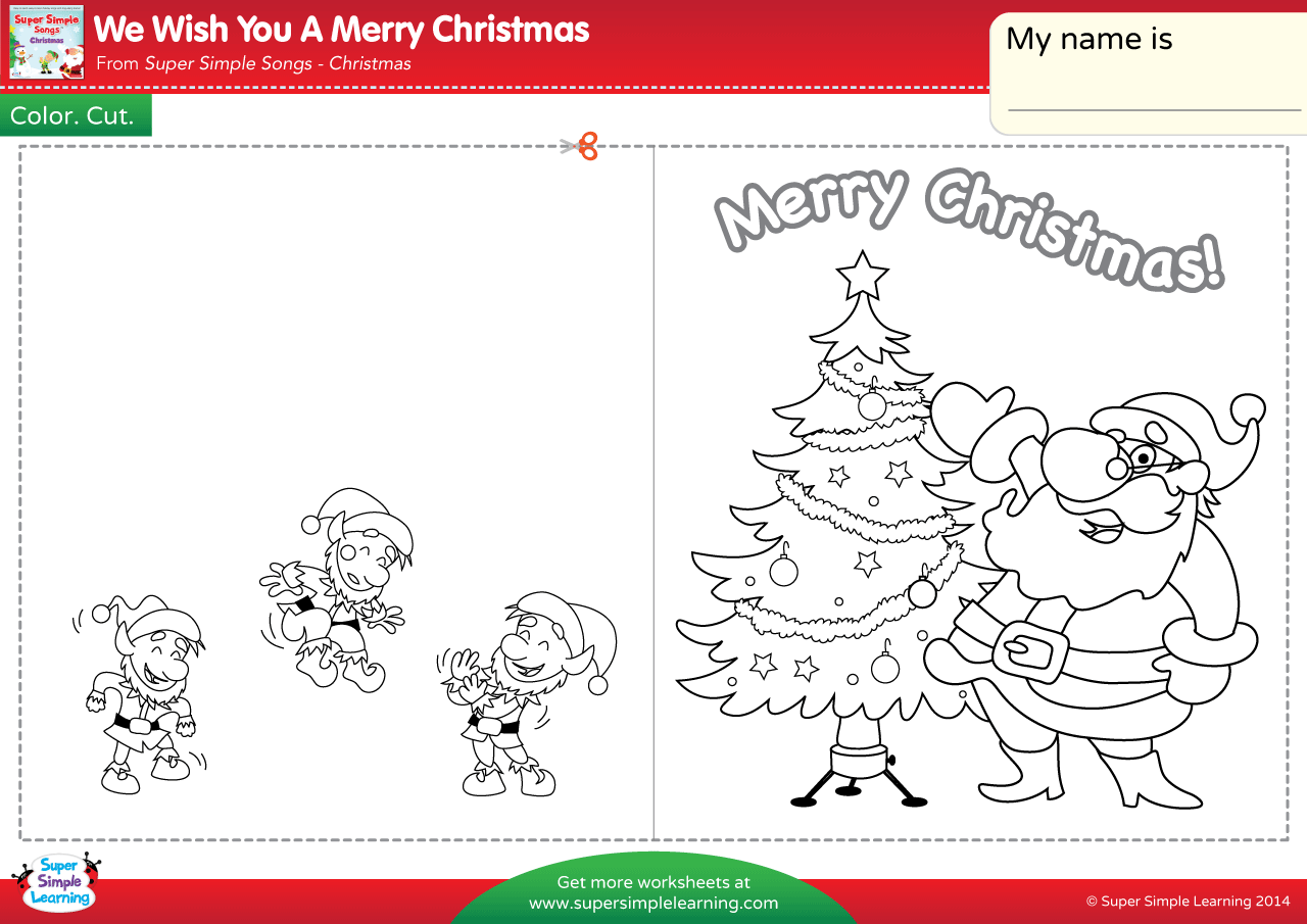 We Wish You A Merry Christmas Worksheet Make A Chirstmas