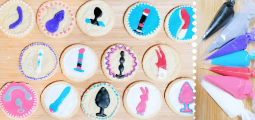 Sex toy cookie decorating tutorial with easy icing recipe: a date night DIY 14