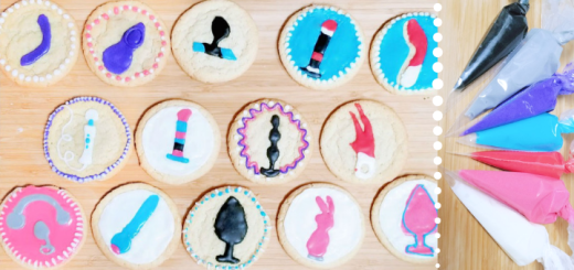 Sex toy cookie decorating tutorial with easy icing recipe: a date night DIY 1