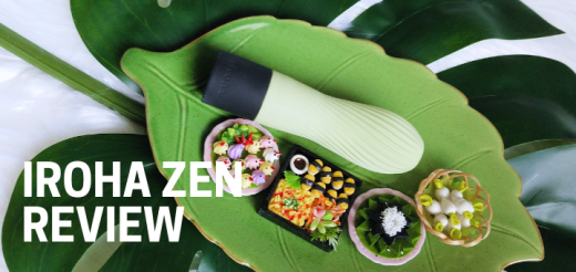 The Iroha Zen is a squishy, textured silicone vibrator with a stylized tea whisk design