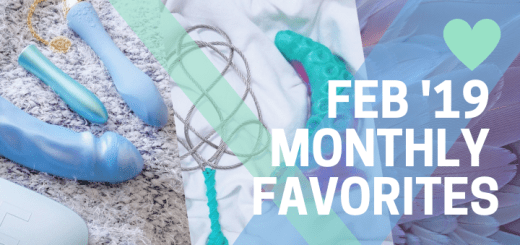 "My favorite sex toys, kinks, and ""fuck yeah""s of February 2019"