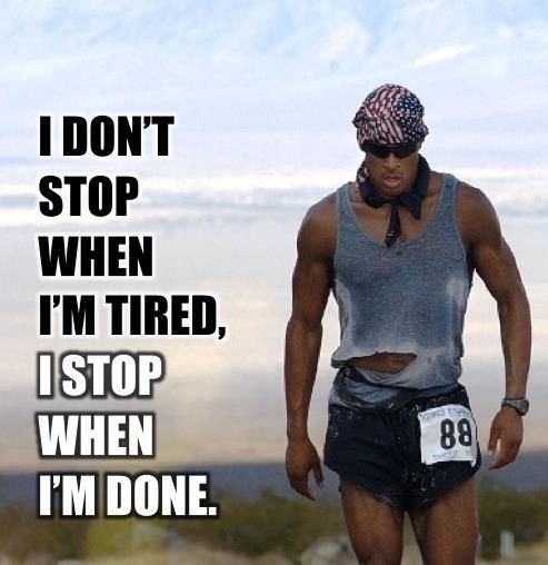 David Goggins. No stopping till you are done. Super Soldier Project. Fitness. Training.