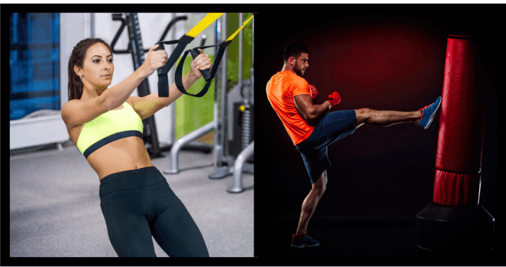 16 TRX/Punchbag Exercises for Endurance, Power, Strength and Mobility.