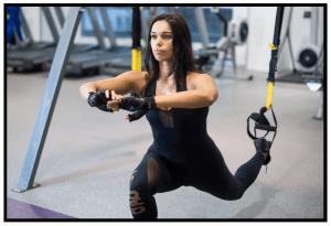 TRX Suspension training. Bulgarian Split Squat. Exercise. Functional Workout. Super Soldier Project.