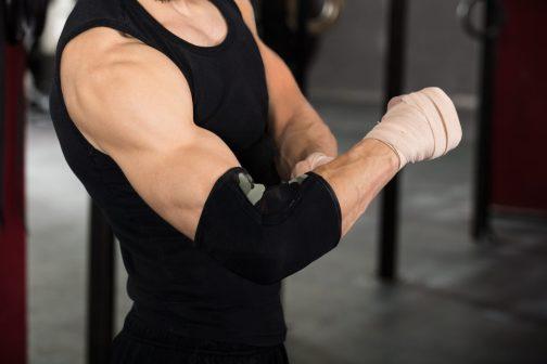 Tennis elbow brace. Lateral epicondylitis