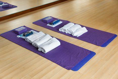 Yoga Equipment. Towels, blocks, mats. Flexibility and Core Training. Balance.