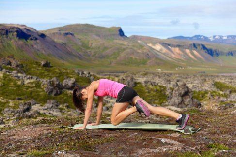 Abdominal Exercises. Mountain Climbers.