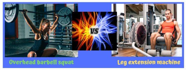 Compound exercises. Isolation exercises. Resistance Training. Overhead Squat. Leg extension.