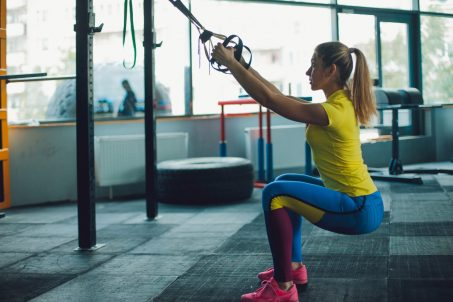 TRX Squats. Leg strengthening exercises. Power training. Whole Body workouts.