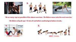 Pull up exercise. Jumping Lunges. Pushups. Crunches exercise. Burpees exercise. AMRAP workout.