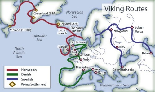 Viking routes.