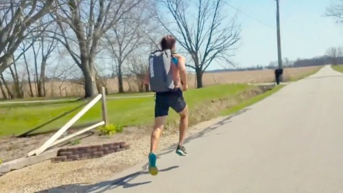 Train Anywhere. Cardio Workout. run commute backpack