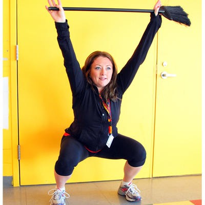 broomstick exercises shoulder. Upper Body and Core Exercises. Overhead squats. Train everyday.