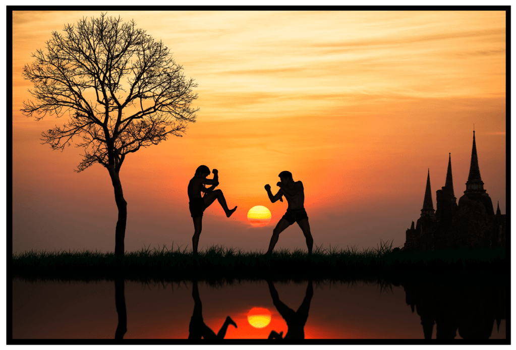 Muay Thai. Kickboxing. Martial Arts Training. Conditioning. Fight Club. Art of eight limbs