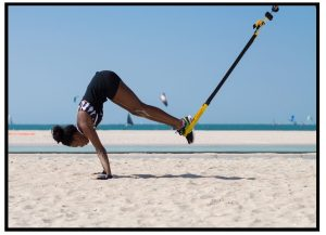 TRX pike. Abs exercise. Functional workouts.