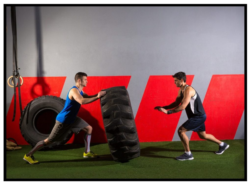 Functional Fitness. Whole Body workouts. Tire drills.