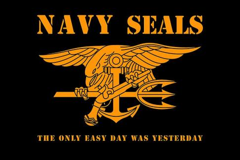Navy SEAL motto. US Navy SEALs.
