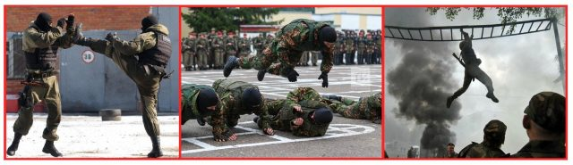 Endurance training. Strength training. Flexibility training. Spetsnaz Training. Enter the Spetsnaz Workouts.