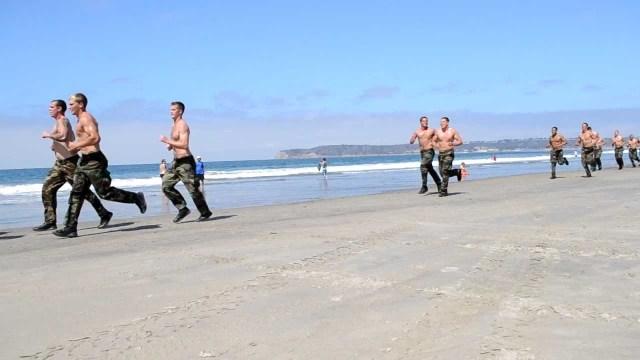 Cardio training. Navy SEALS workout.