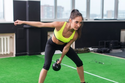 Kettlebell workouts. Kettlebell swings benefits. Core stability training for injury prevention
