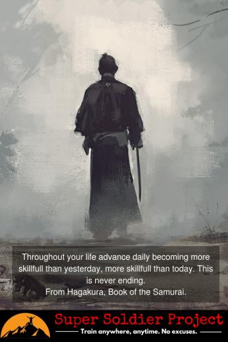 Book of Hagakure. Warrior mindset.