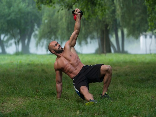 Kettlebell core exercises. Turkish get up with kettlebell. Functional workouts. Kettlebell Abs. Full body exercise.