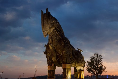 Trojan Horse. Trojan War. Illiad. Homer.