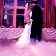 Low lying fog wedding dance
